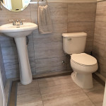 Bordered Powder Room
